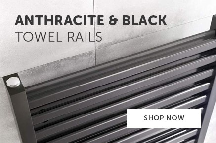 Anthracite and Black Heated Towel Rails