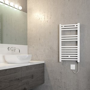 White Heated Towel Rails