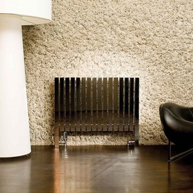 Aeon Arat Stainless Steel Floor Mounted Horizontal Designer Radiator - Brushed