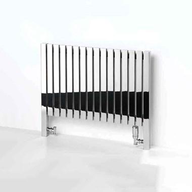 Aeon Arat Stainless Steel Floor Mounted Horizontal Designer Radiator - Brushed - 660x390
