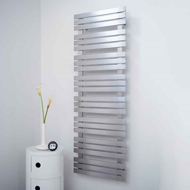 Aeon Kaptan Stainless Steel Vertical Designer Heated Towel Rail Radiator