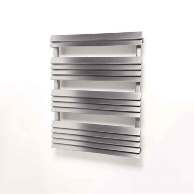 Aeon Panacea Stainless Steel Vertical Designer Heated Towel Rail Radiator - Brushed - 660x400
