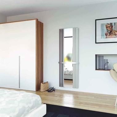 Aeon Panacea Stainless Steel Mirrored Vertical Designer Radiator - 1800 x 600mm