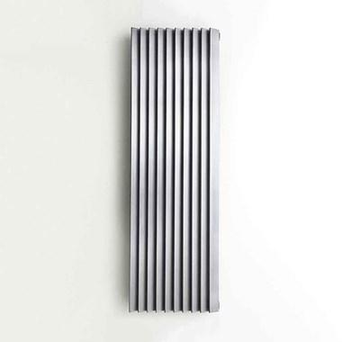 Aeon Panacea Stainless Steel Vertical or Horizontal Designer Radiator - Brushed - 480x400