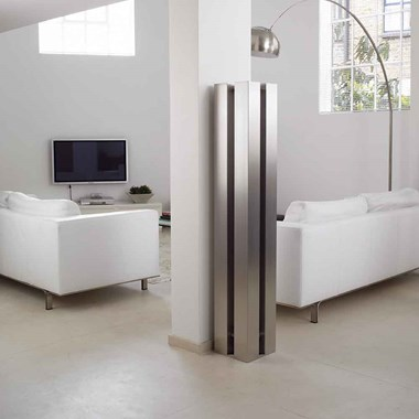 Aeon Stanza Stainless Steel Free Standing Vertical Designer Radiator