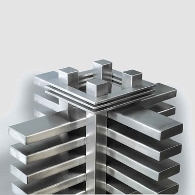 Aeon Truva Stainless Steel Free Standing Vertical Designer Radiator