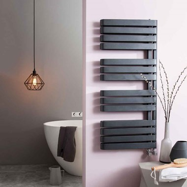 Crosswater Svelte Vertical Designer Heated Towel Rail - 1100 x 500mm