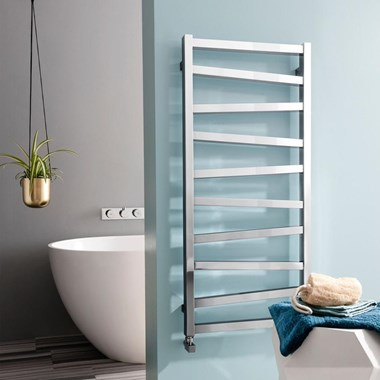 Crosswater Wedge Designer Heated Towel Rail - Chrome - 1096 x 500mm