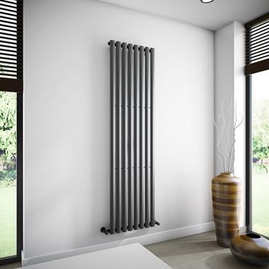 Brenton Oval Single Panel Vertical Radiator - 1800 x 472mm