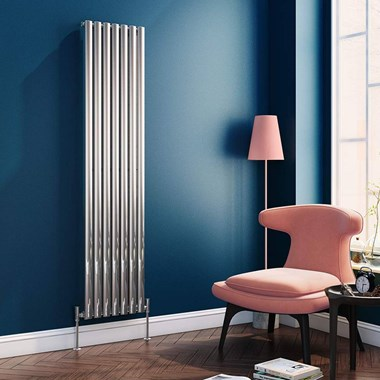 Brenton Oval Single Panel Vertical Radiator - Polished Chrome