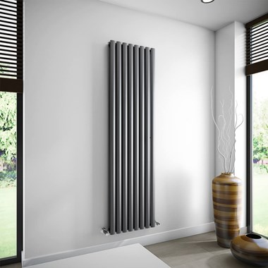 Brenton Oval Double Panel Vertical Radiator - 1800 x 480mm