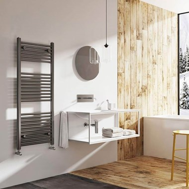 Brenton Nerola Metallic Heated Towel Rail