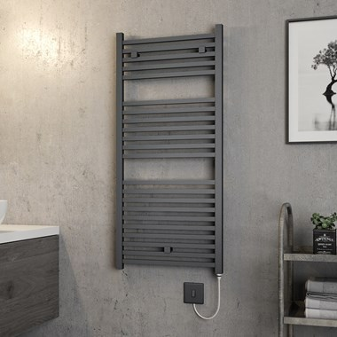 Brenton Helios Electric Straight Square Heated Towel Rail