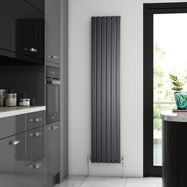 Brenton Flat Single Panel Vertical Radiator - 1800mm x 360mm