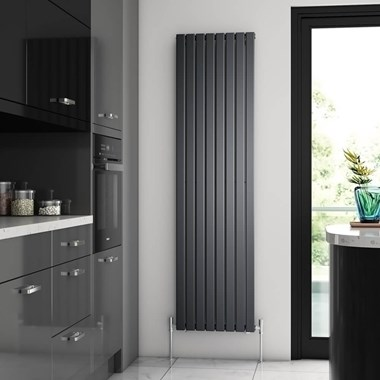 Brenton Flat Single Panel Vertical Radiator - 1800 x 472mm