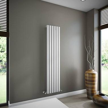 Brenton Oval Single Panel Vertical Radiator - 1600mm x 360mm