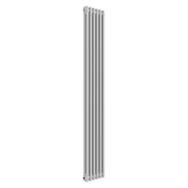 Butler & Rose Vertical Designer 2 Column White Radiator - 1500 x 290mm