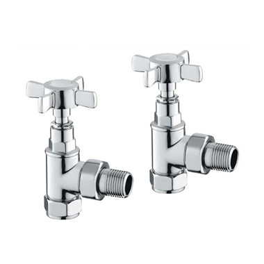 Butler & Rose Traditional Angled Radiator Valves - Chrome