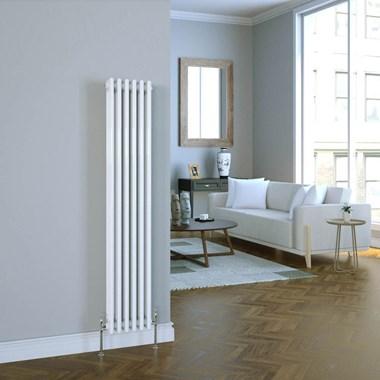 Butler & Rose Vertical Designer Column White Radiator - 1500 x 290mm