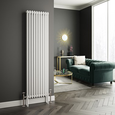 Butler & Rose Vertical Designer Column White Radiator - 1800 x 470mm