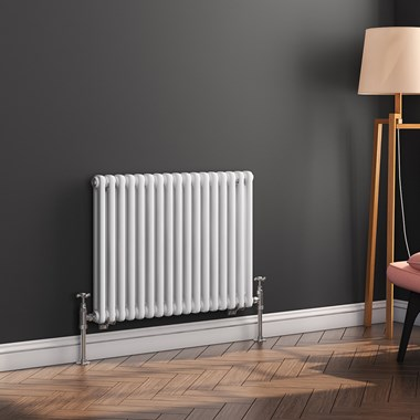 Butler & Rose Horizontal Designer Column White Radiator - 500 x 785mm