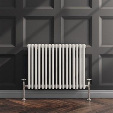Butler & Rose Horizontal Designer Column White Radiator - 600 x 785mm