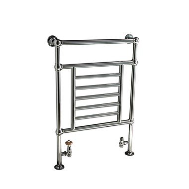 DQ Heating Cranwich Floor Mounted Luxury Traditional Heated Towel Rail