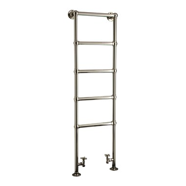 DQ Heating Elveden Floor Mounted Luxury Traditional Heated Towel Rail