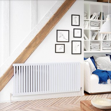DQ Heating Aviso Horizontal Designer Radiator - White