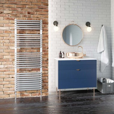 DQ Heating Axial Heated Towel Rail - White