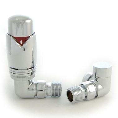 DQ Heating Essential Corner Luxury Manual Radiator Valve
