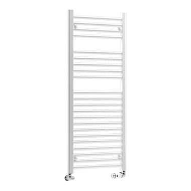 DQ Heating Metro Vertical Heated Towel Rail - White
