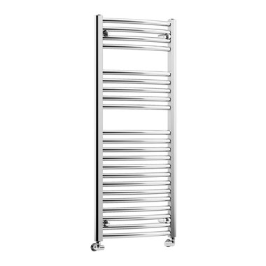 DQ Heating Orion Vertical Curved Heated Towel Rail - Polished Chrome - 1500 x 600mm