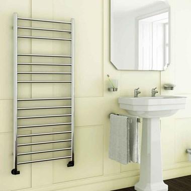 DQ Heating Siena Stainless Steel Vertical Designer Heated Towel Rail