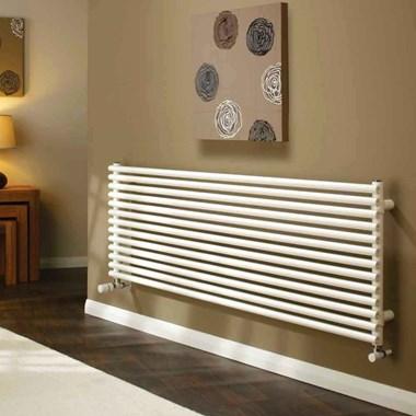 DQ Heating Vulcano Single Panel Mild Steel Horizontal Designer Radiator