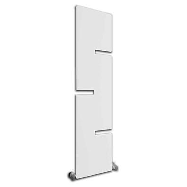 Reina Fiore Vertical Designer Steel Radiator - White - 1790x400