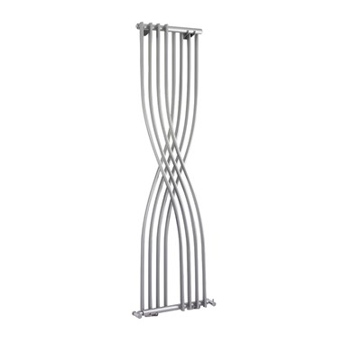 Hudson Reed Xcite Vertical Designer Radiator - High Gloss Silver - 1775x450