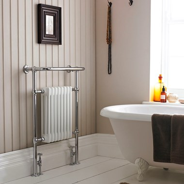 Hudson Reed Harrow Traditional Column Towel Rail