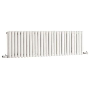 Hudson Reed Refresh Double Panel Horizontal Designer Radiator - White - 300 x 1064mm