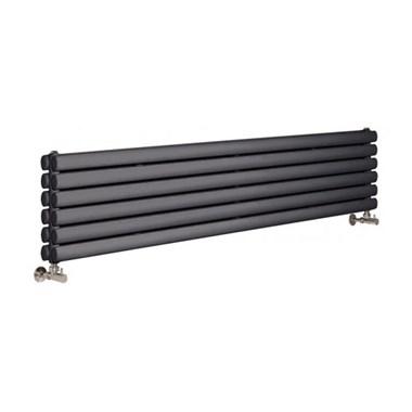 Hudson Reed Revive Double Panel Horizontal Designer Radiator - Anthracite