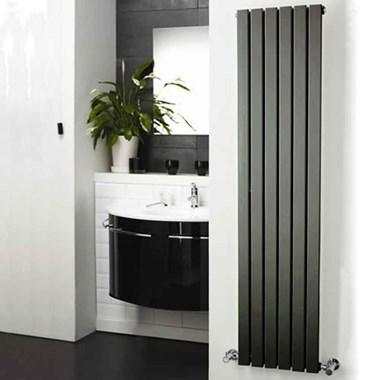 Hudson Reed Sloane Single Panel Vertical Designer Radiator - Anthracite - 1800 x 354mm