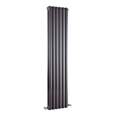 Hudson Reed Salvia Double Panel Vertical Designer Radiator - Anthracite