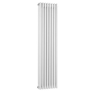 Hudson Reed Colosseum Triple Column Vertical Designer Radiator - White - 1500x291