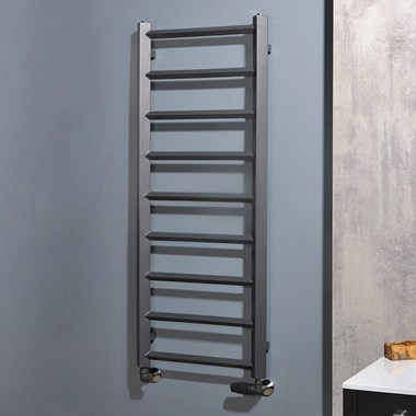 Phoenix Alexa Pre Filled Electric Designer Towel Rail - Anthracite - 1200x504mm