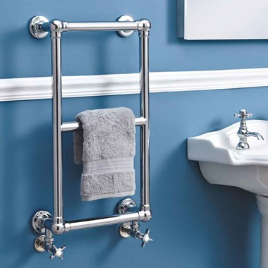 Phoenix Anne Traditional Wall Mounted Bathroom Heated Towel Rail Radiator - 700x400mm