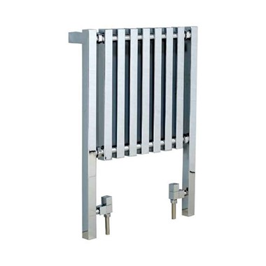 Phoenix Ava Chrome Vertical Designer Floor Standing Radiator - 800x600mm