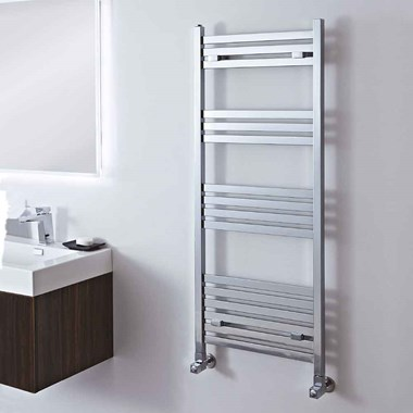 Phoenix Davina Square Chrome Bathroom Heated Towel Rail Radiator - 800x500