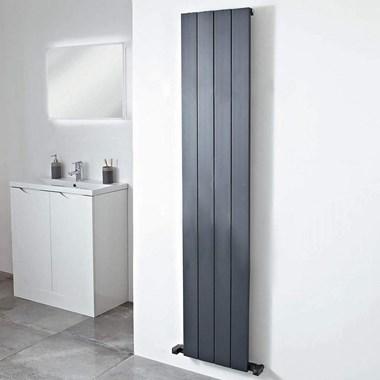 Phoenix Eon Vertical Designer Single Panel Wall Mounted Aluminium Radiator