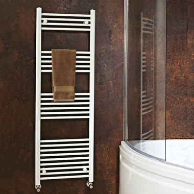 Phoenix Flavia Electric Bathroom Straight Heated Towel Rail Radiator - White