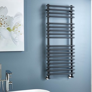 Phoenix Gardo Vertical Designer Towel Radiator - Anthracite - 1200x500mm